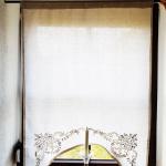 vintage gestickte LandhausGardine