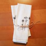 Stoffservietten aus ungebleichter Baumwolle
