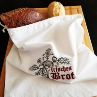 Brotbeutel aus Baumwolle, Stoffbeutel