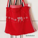 rote Einkaufstasche