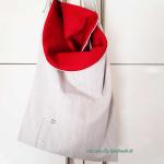 graukarierte Tasche
