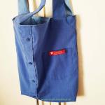 Stofftasche, blau, Handtasche