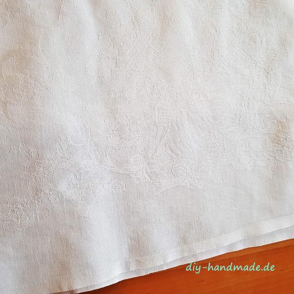 Tischdecke vintage weiß