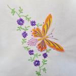 Scheibengardine Schmetterling