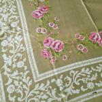 vintage Tischdecke Blumen