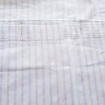 Kopfkissen hellblau streifen