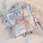 Lavendelkissen blau Bauernstoff