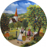 Sammelteller - Wandteller - Motiv Herbst